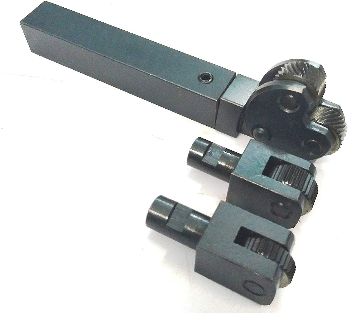 TOOL STEEL INTER-CHANGEABLE HEADS DIAMOND and LINEAR KNURLING TOOL FOR LATHES