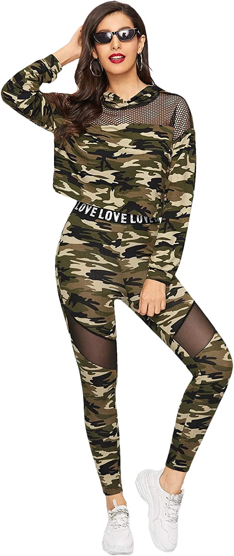 SweatyRocks Womens 2 Piece Outfits Spaghetti Strap Crop Top with Plaid Pants Set
