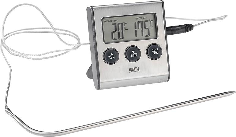 Compra Gefu 21840 Tempere - Termómetro digital para asados, con reloj integrado en Amazon.es
