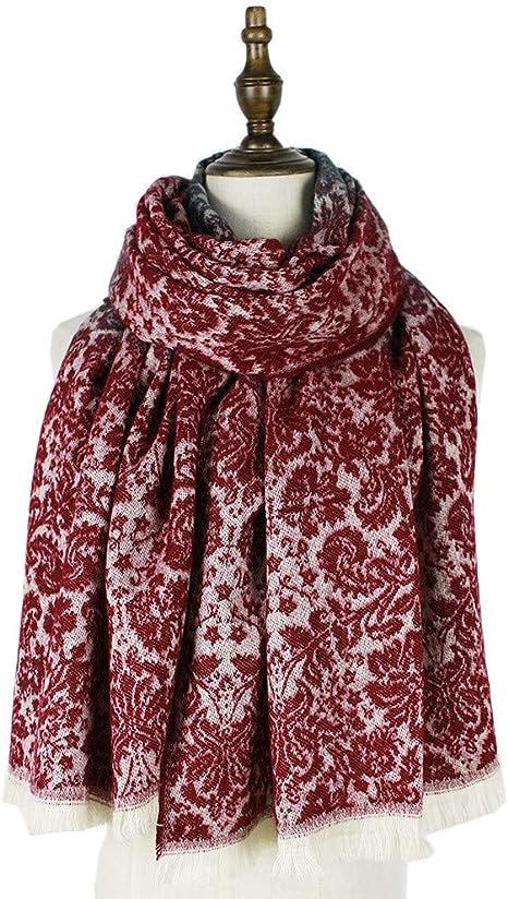 TALLA 180. AiNaMei Bufanda de cachemira de imitación de calor de otoño e invierno para hombres y mujeres