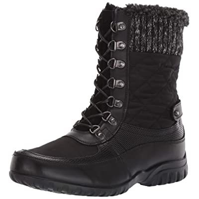 Propet Women's Delaney Frost Snow Boot, Black, 9.5 Wide | Snow Boots