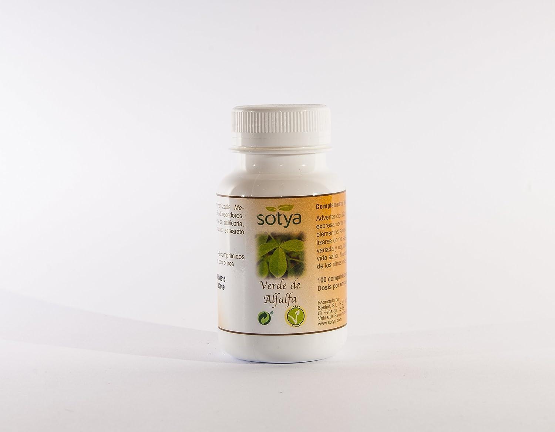 SOTYA - SOTYA Alfalfa 100 comprimidos 700 mg: Amazon.es: Salud y cuidado personal