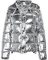 CharMma Damen Trendy Hooded Long Sleeve Pocket Padded Jacket Women Winter Coat