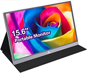 2020 4K Portable Monitor - NexiGo Premium 15.6 Inch Ultra HD 2160P IPS USB Type-C Computer Display, Eye Care Screen with HDMI/USB-C VESA for Laptop PC/MAC/PS4/Xbox/Switch/Phone Included Black Cover