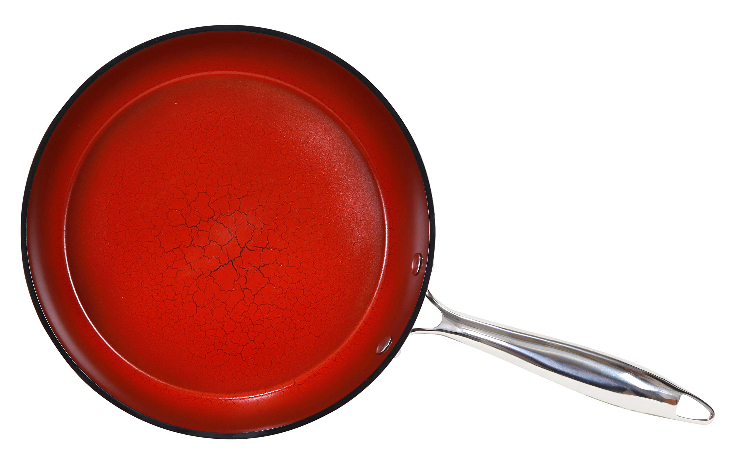 Fire & Earth NEW Toxin Free Ceramic Nonstick Safe Open pressed Frypan 9.5'' (1)