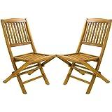 Beneffito Conjunto de 4 sillas de jardín Plegables en Teca ...