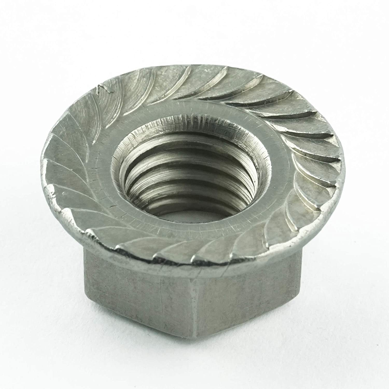 ISO 4161 M5 Selbstsichernde Muttern mit Flansch - Flanschmuttern mit Sperrverzahnung DIN 6923 rostfrei Eisenwaren2000 Edelstahl A2 V2A 5 St/ück