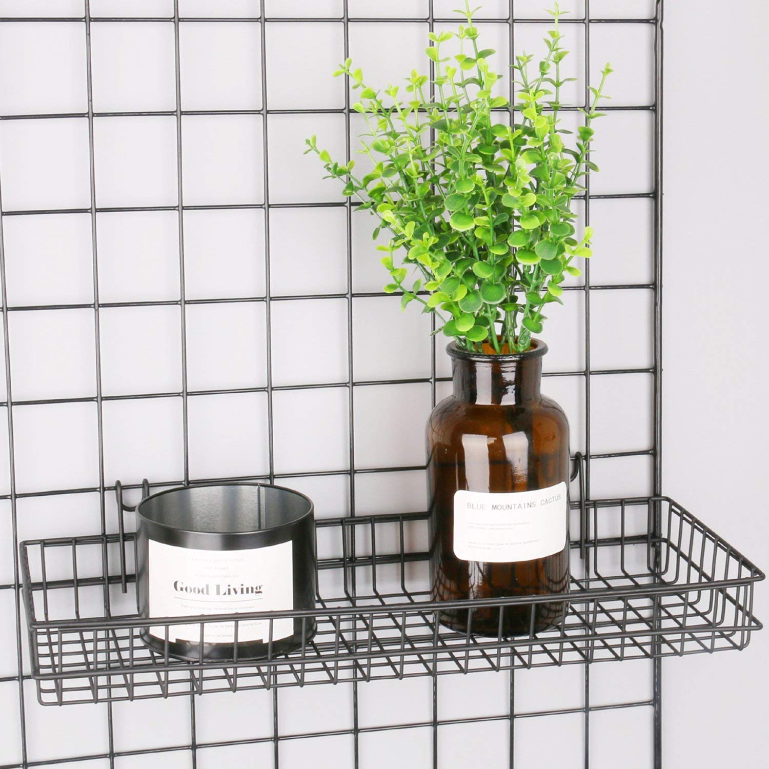 Wall Storage and Display Basket Ciao Life Hanging Basket for Wire Wall Grid Panel Hanging Tray