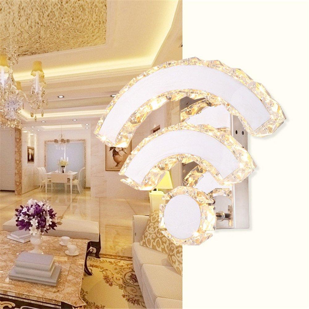 Z&MDH LED-Kristall-Wandleuchte, moderne Schlafzimmer-Bett-Kanal WIFI Wandleuchte