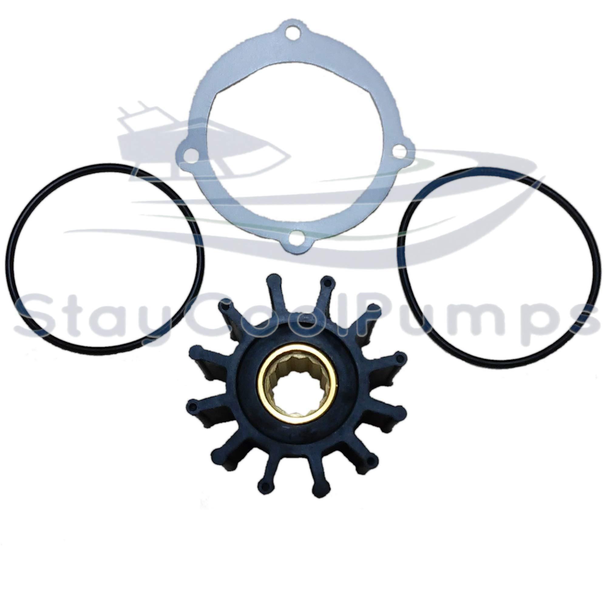 StayCoolPumps Impeller Kit Replaces Johnson 09-812B-1 Jabsco 13554-0001-P Sierra 18-3306