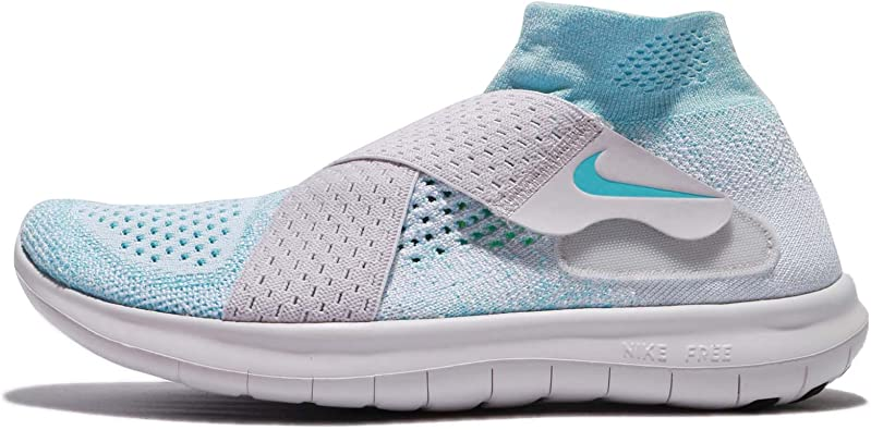 Nike Free Rn Motion Flyknit 2017 Women Glacier Blue Vast Grey Pure Platinum 880846 402 Road Running