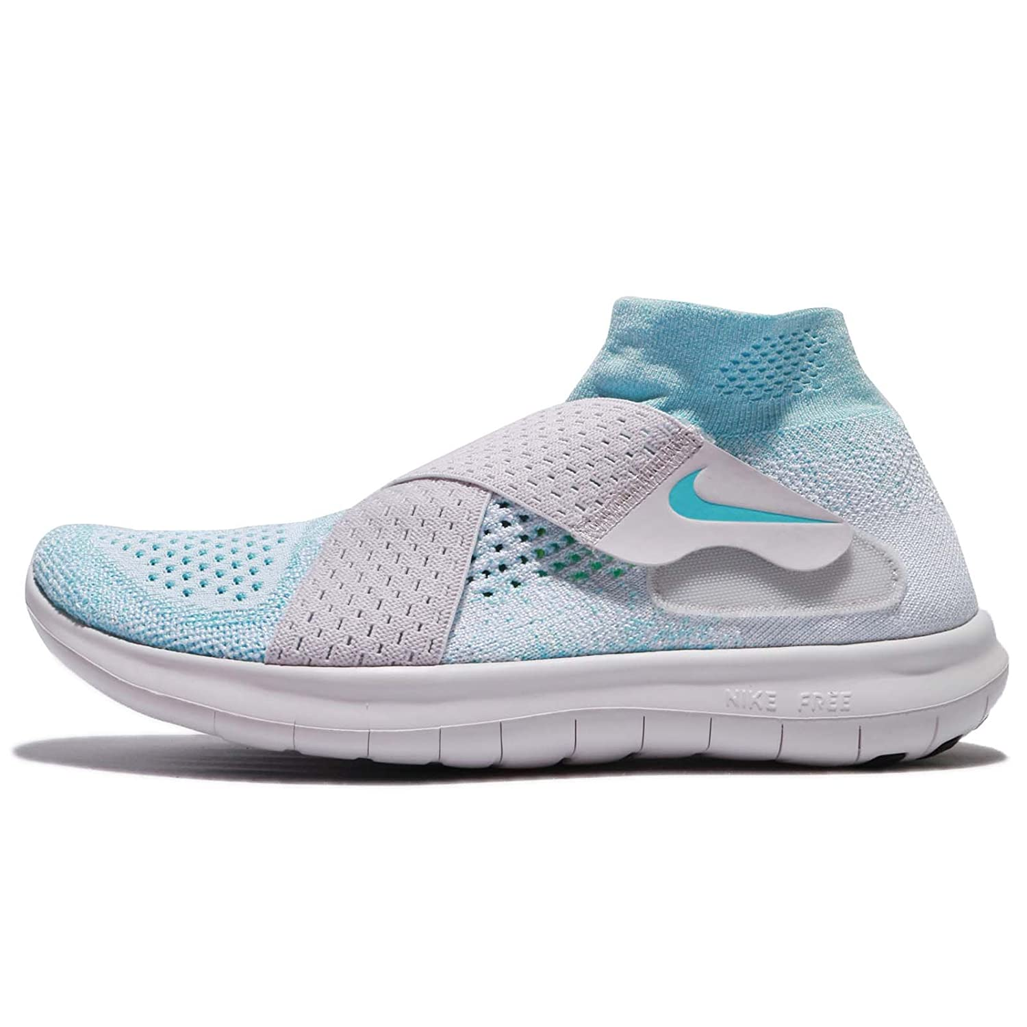 Nike Free RN Motion Flyknit 2017 Women Glacier Blue Vast Grey Pure Platinum 880846-402