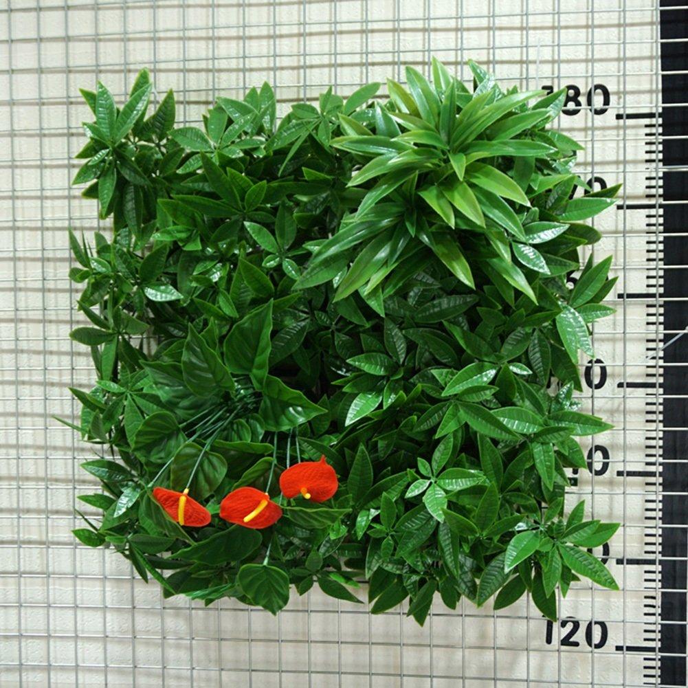 WENZHE 人工 フェイクアイビー 緑の植物のシミュレーション 壁掛け式 エミュレーション 背景壁 高密度 インドア アウトドア 装飾品、 50×50cm (サイズ さいず : 8 pieces) B07D8VFL6X 8 pieces  8 pieces