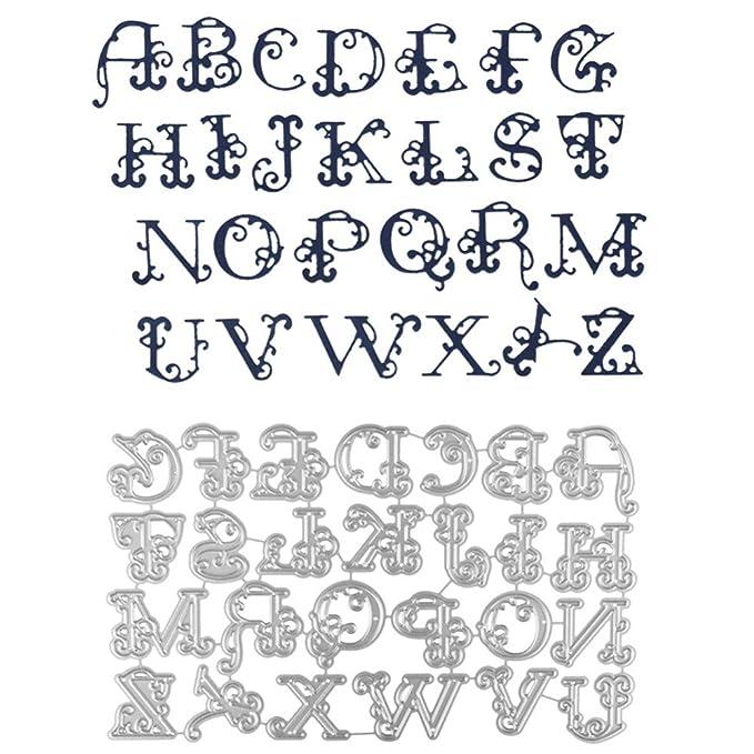 Amazon.com: Tharv❤ Plantillas grandes de corte de letras ...