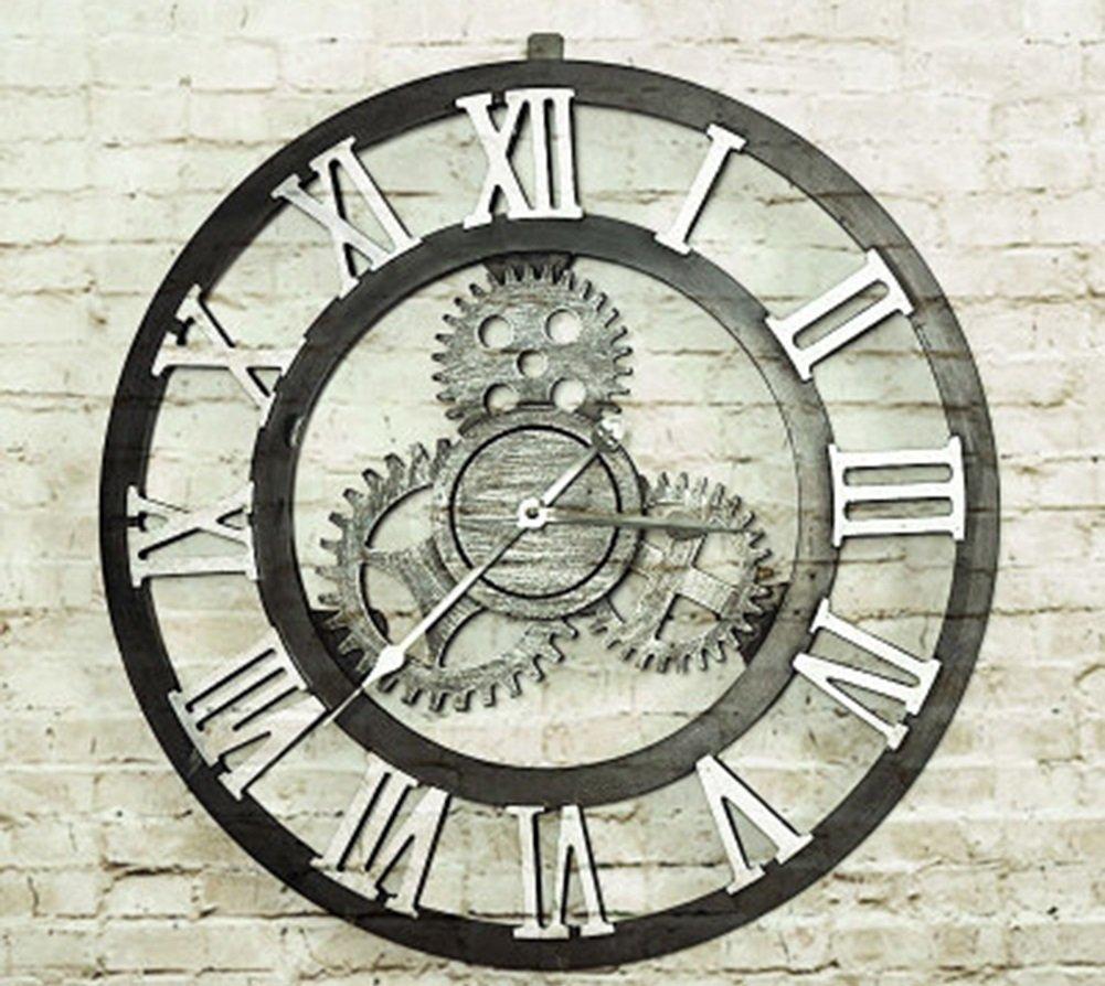 CSQ ギアの壁時計、リビングルームのレストラン寝室の壁時計ホームバーフラワーショップの装飾レトロ壁時計の直径70CM ウォールクロックと掛け時計 (色 : #3, サイズ さいず : 70*70センチメートル) B07DPHNTHH 70*70センチメートル|#3 #3 70*70センチメートル