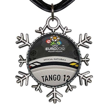 Estilo antiguo de plata de la UEFA Euro Tango 12 logo balón ...
