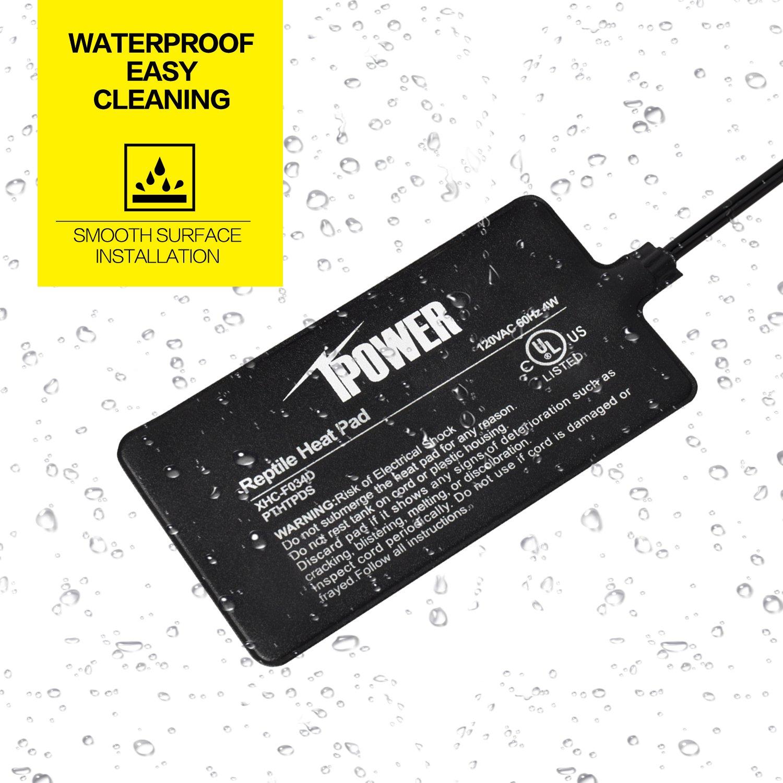 iPower 8 by 12-Inch 16 Watt Reptile Heat Pad Under Tank Terrarium Heater Heat Mat for Small Animals by iPower (Image #5)