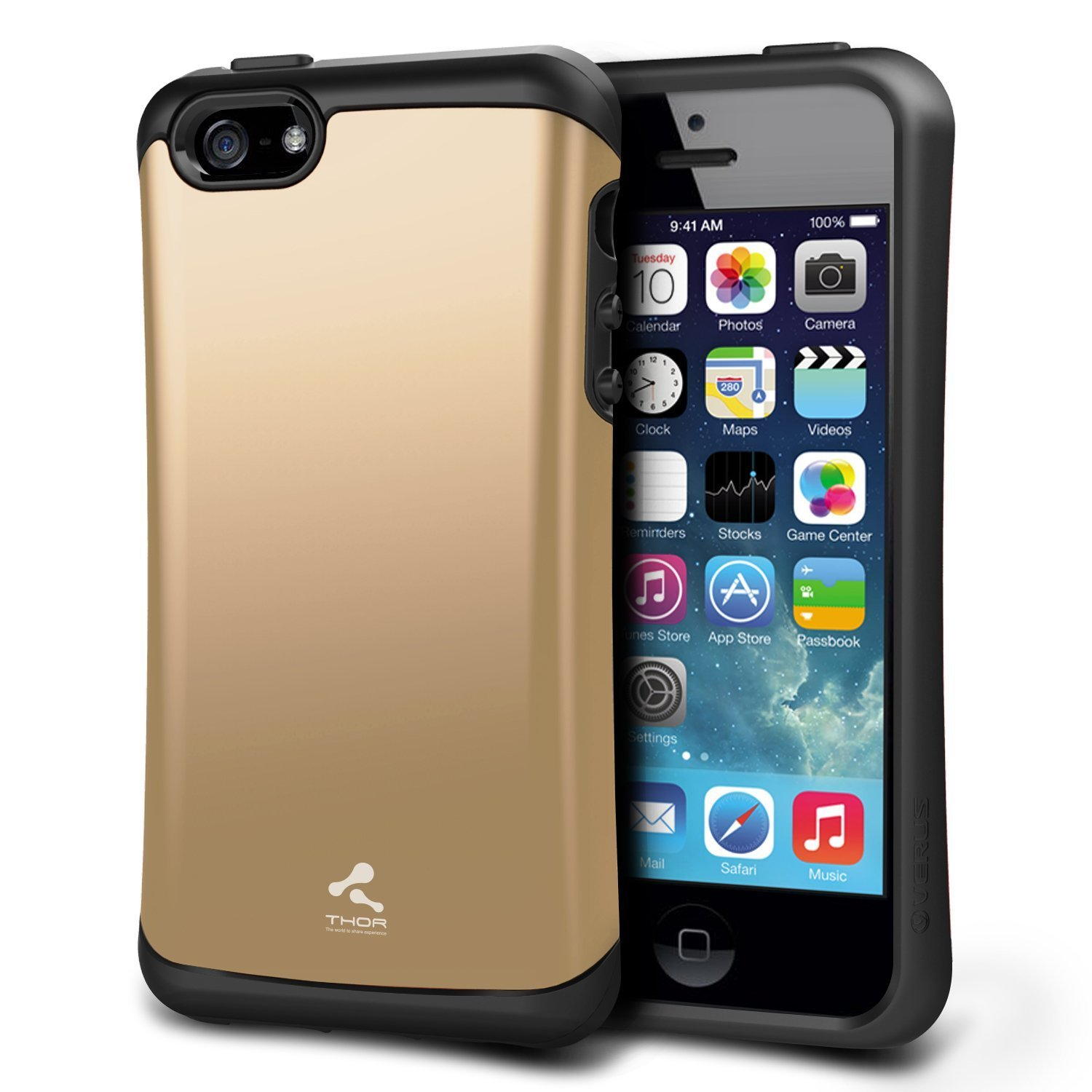 reputable site 81ab6 36319 iPhone 5S Case, Verus [Thor][Shine Gold] - [Military Grade Drop  Protection][Natural Grip] For Apple iPhone 5S