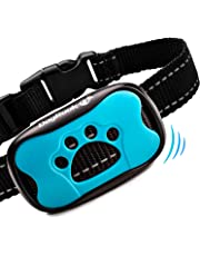 DogRook Bark Collar - Humane, No Shock Training Collar - Vibration & Sound Care Modes - Smart Adjustable for Small, Medium, Large Dogs Breeds - No Harm Deterrent Reflective Vibrating Control Collar