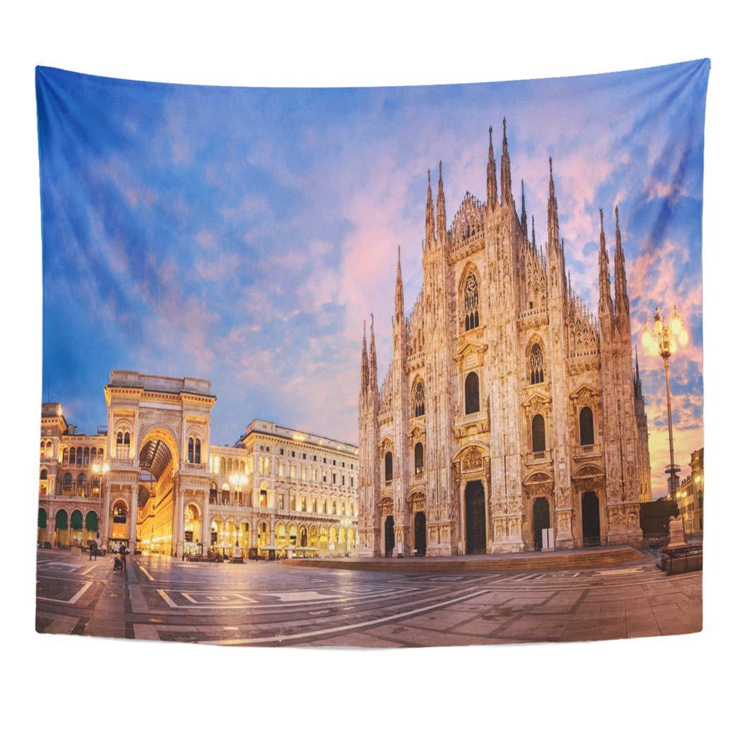 Amazon Com Emvency Decor Wall Tapestry Tourism Milan