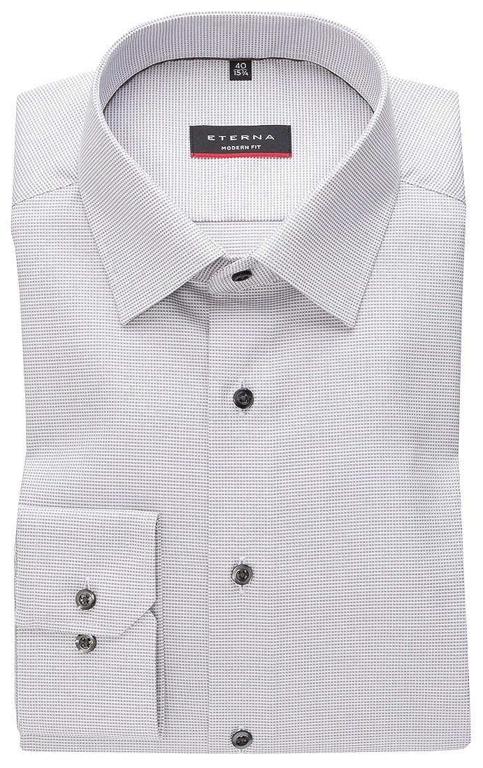 TALLA 45. Eterna - Camisa Formal - Cuadrados - Clásico - Manga Larga - para Hombre