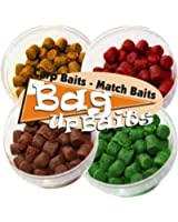 Bag Up Baits Boosted 10mm Carp Soft Hook Fishing Pellets Multipack - Krill-Scopex-Halibut-Crab '' Excellent Flavoured Fishing Pellets For Carp , Bream, Roach, Tench Barbel, With Free Delivery