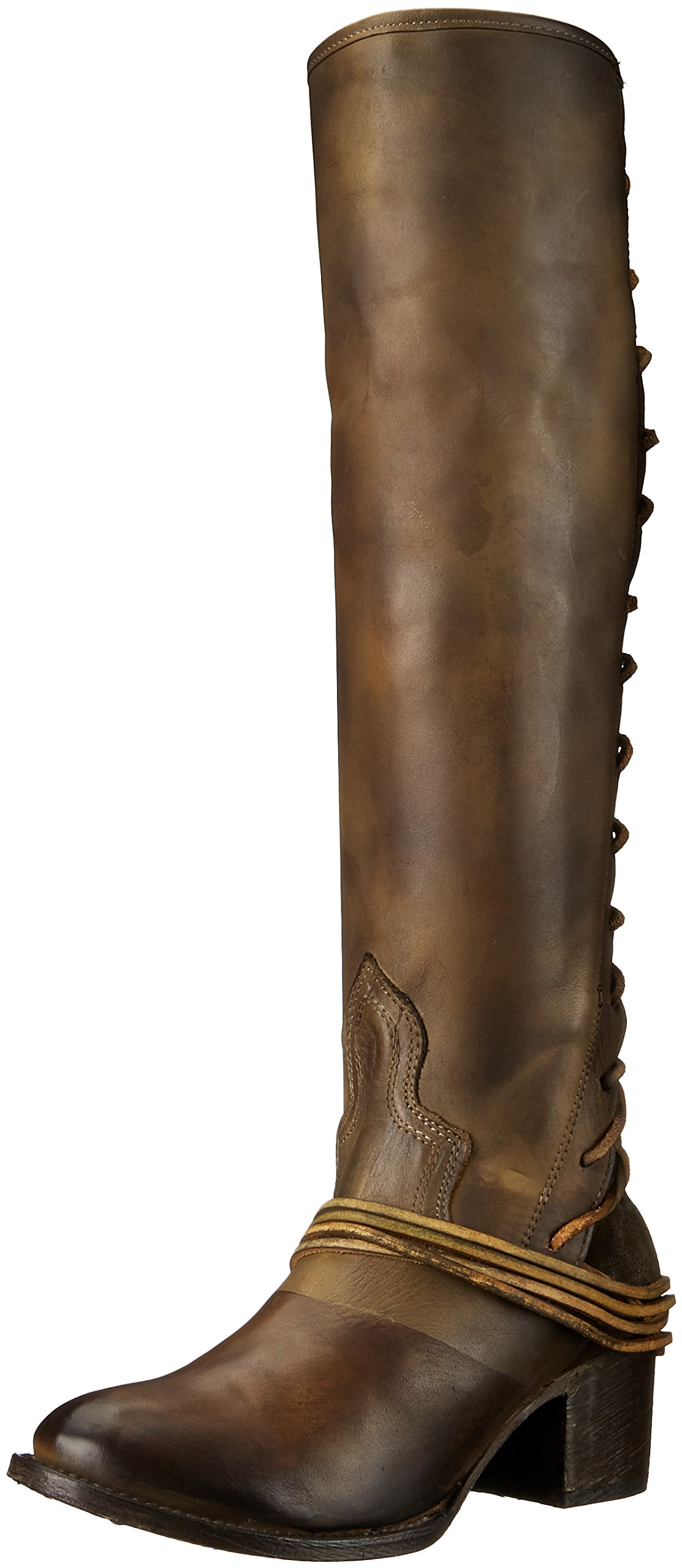 Freebird Women's Coal Riding Boot, Olive Leather, 7 M US