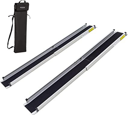 Silver Spring 3 5 Ft Telescoping Wheelchair Track Ramps With Storage Bag Health Personal Care