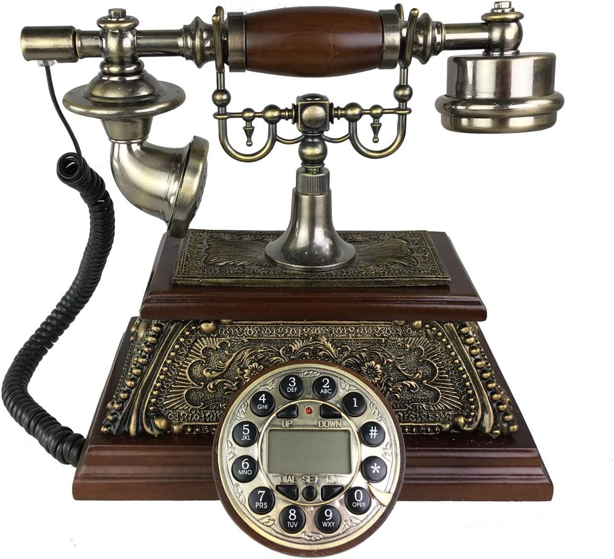Antiguo teléfono Nostalgie Teléfono Tetra flor Diseño Nostalgie 9Dragón: Amazon.es: Juguetes y juegos