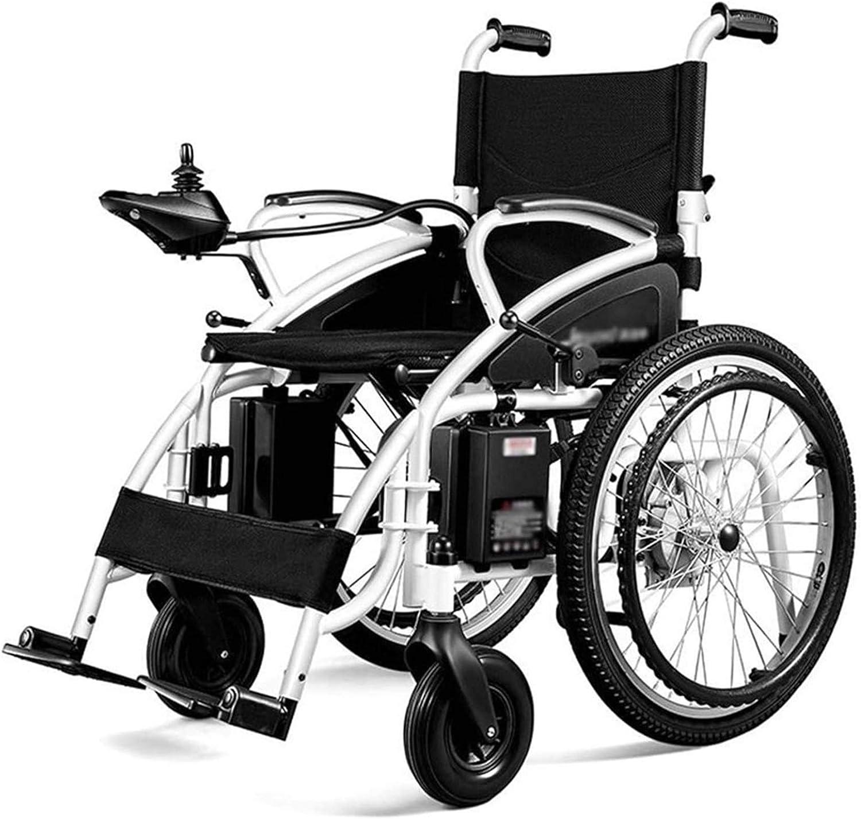 Silla de Ruedas eléctrica, Silla de ruedas eléctrica plegable motorizado sillas de ruedas eléctricas, sillas de ruedas potente motor dual, ligero, sólo 37 kg, de alta resistencia, con silla de ruedas