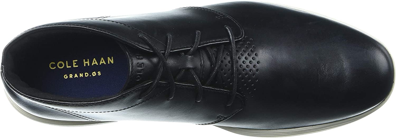 Cole Haan Mens Grand Tour Chukka Black Leather//Ivory Chukka Boot
