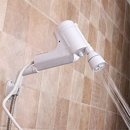 Calentador de agua eléctrico instantáneo tanque de baño de agua caliente grifo de la ducha de