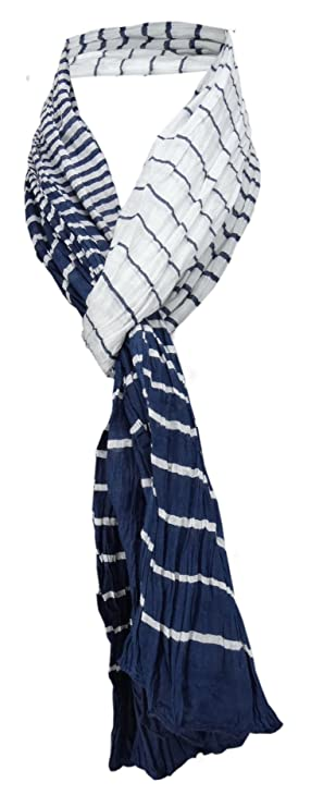 180 x 50 cm TigerTie Schal in blau dunkelblau marine braun gestreift Tuch Gr
