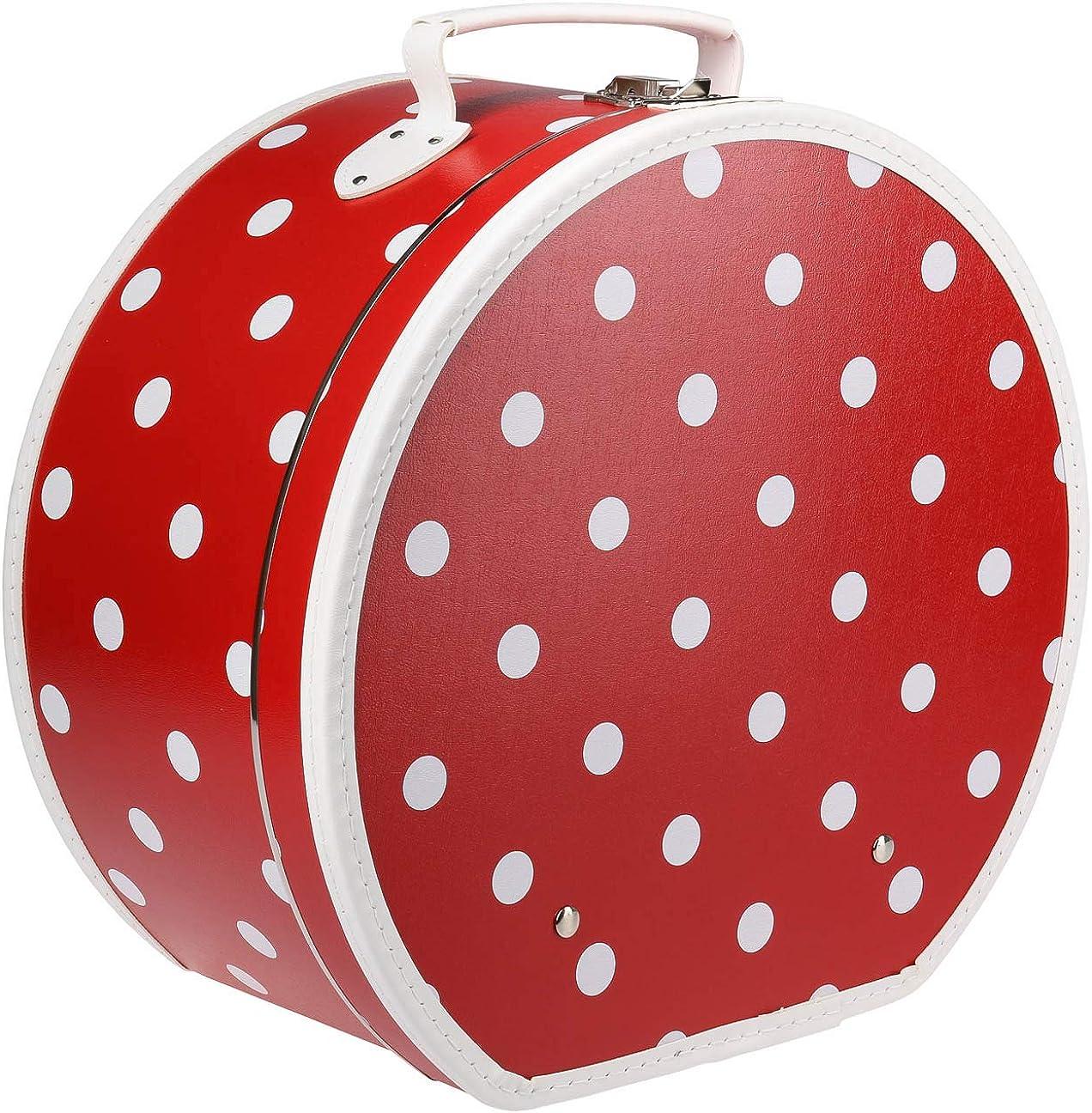 Lierys Caja para Sombrero Lunares Red Mujer - Made in The EU sombrerera Verano/Invierno
