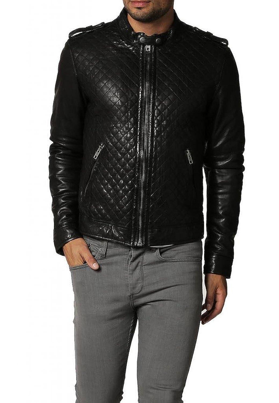 Laverapelle Men's Lamb Skin Real Leather jacket Black - 1510402