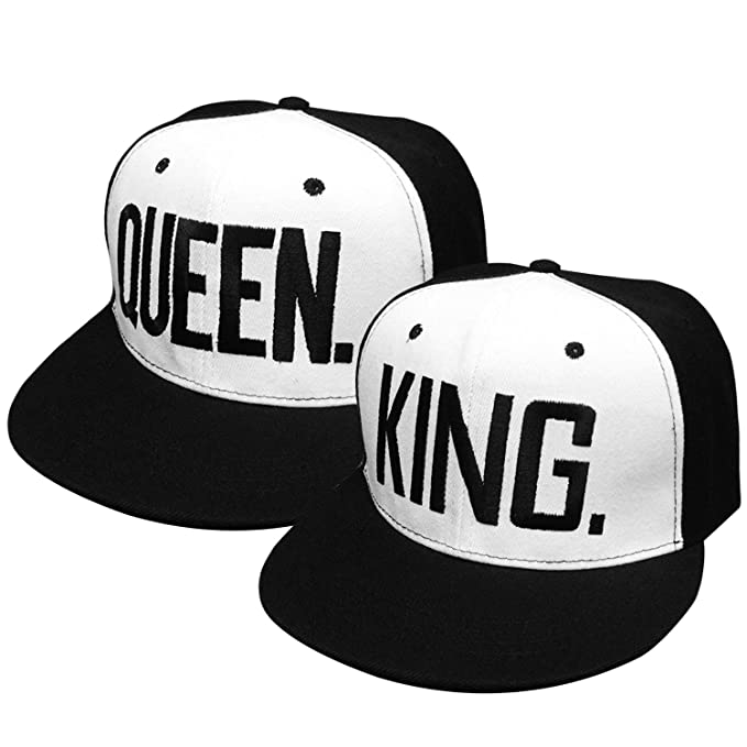 Gorras de Béisbol ajustable Sombreros para Parejas enamorados QUEEN And KING: Amazon.es: Ropa y accesorios