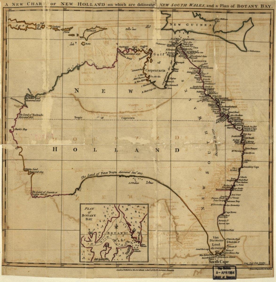 Map Of Australia 1700.Amazon Com 1700 Map Australia Australia New Holland On Which Are