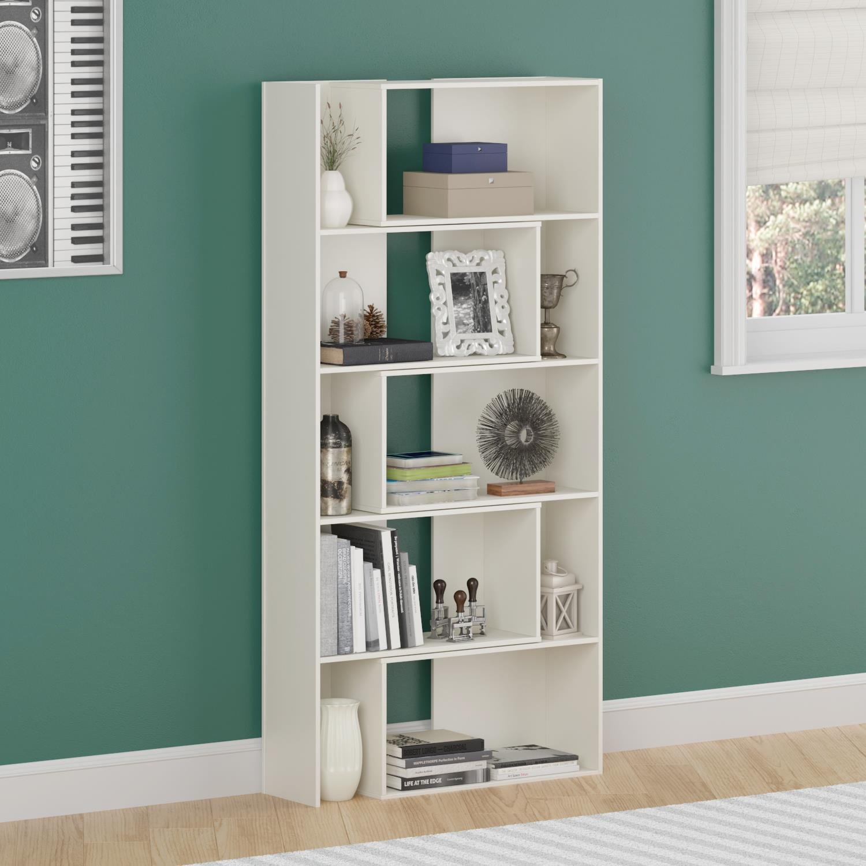 Amazon.com: Altra Transform Expandable Bookcase, White: Kitchen & Dining - Amazon.com: Altra Transform Expandable Bookcase, White: Kitchen