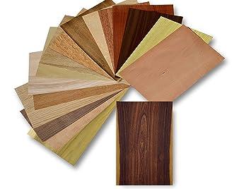 Holz Furnier Set 17 Varianten Echtholz Nussbaum Eiche Teak Uvm
