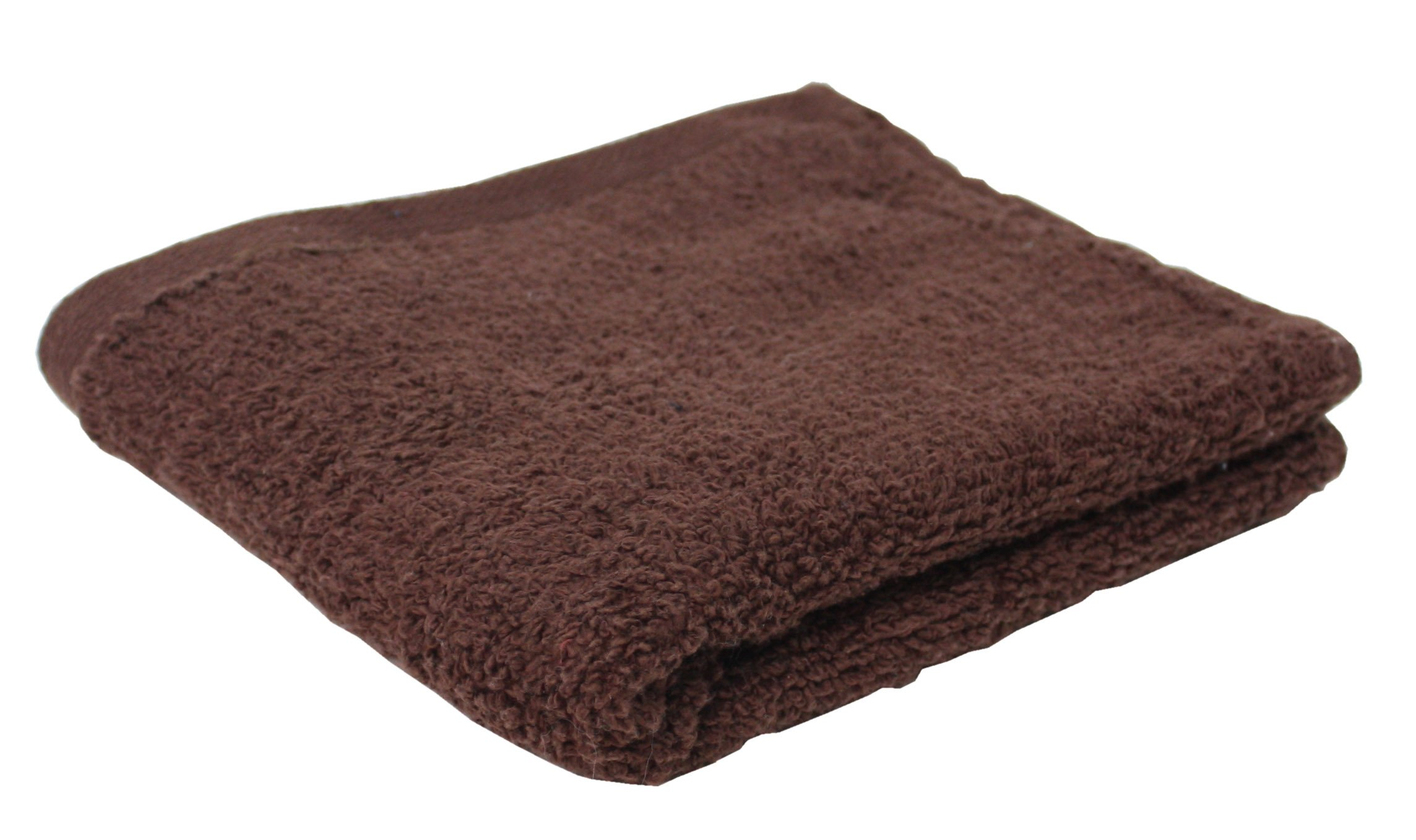 Premium 72-Piece Bulk Pack Cotton Hand Towel Set, 16x27'', Hotel & Spa Quality, Super Soft and Ultra Absorbent for Commercial Business-Coffee Brown