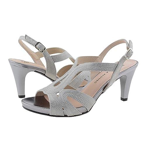 d76558c69 Sandalias Metalizadas Piel  Amazon.es  Zapatos y complementos