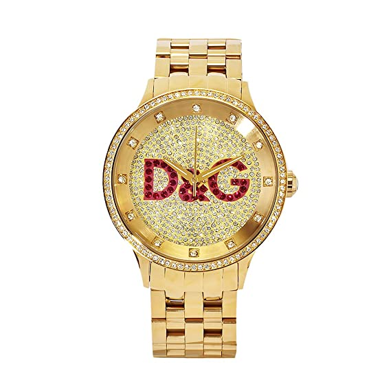 bb4d589b42ce Dolce   Gabbana Time Big IPG Gold DIAL with Red Logo BRC DW0377 - Reloj de