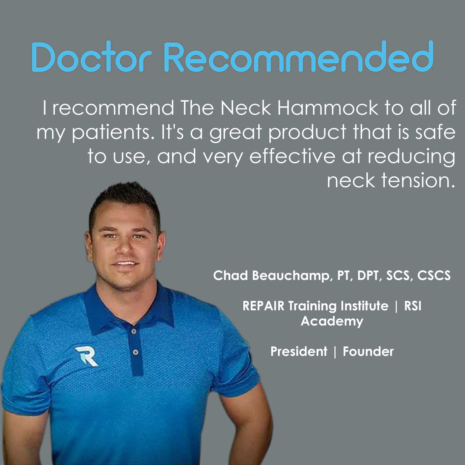 The Neck Hammock 2.0 - The Original Portable Cervical Traction and Relaxation Device. Easily Attach to Any Door or Railing for Chronic Neck Pain Relief in 10 Minutes or Less by The Neck Hammock (Image #8)