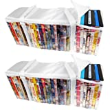 Evelots Set Of 2 DVD/Blue-Ray Storage Bags, Holds 60 Total - 30 Each