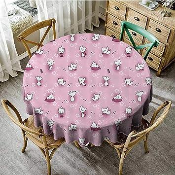 Amazon.com: familytaste - Mantel redondo para boda, diseño ...