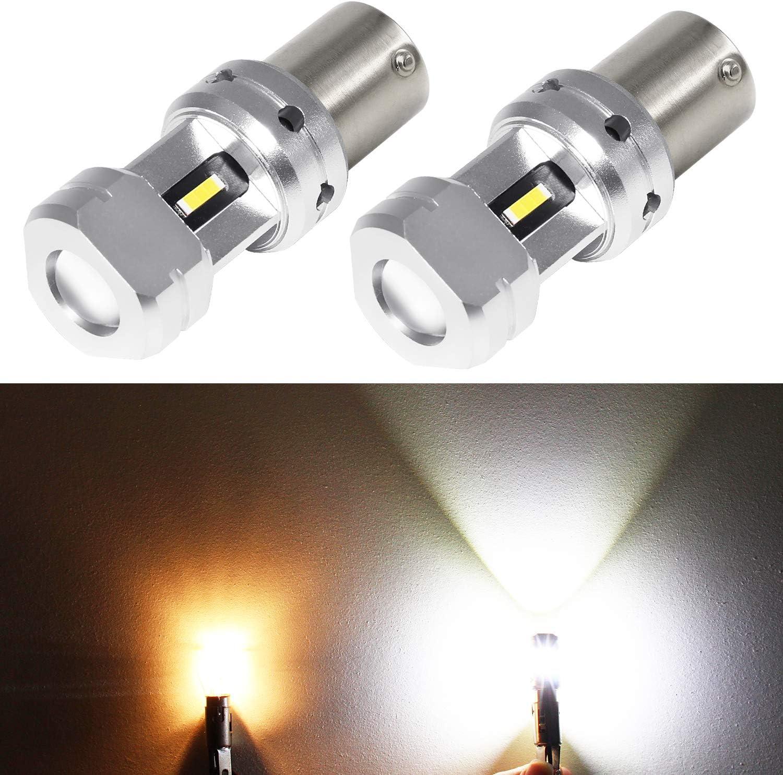 Phinlion 3600 Lumens 1156 LED Backup Bulb Super Bright P21W BA15S 3497 7506 LED Bulbs for Car Truck RV Back Up Reverse Lights, 6000K Xenon White
