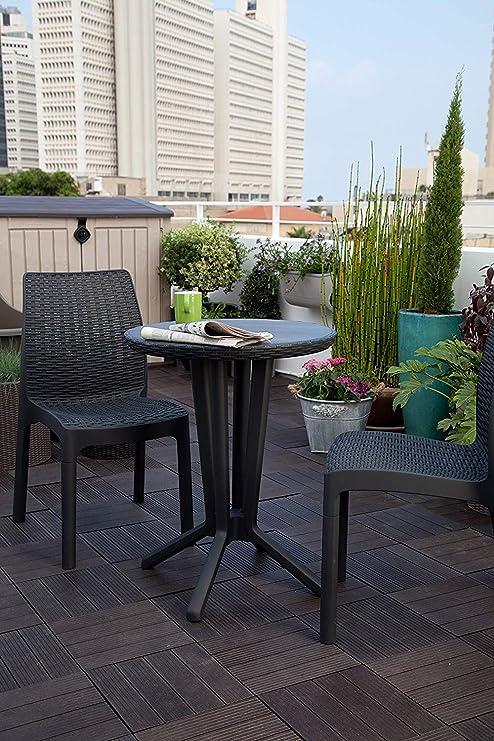 Keter - Conjunto de terraza o balcón Bistro, Color grafito