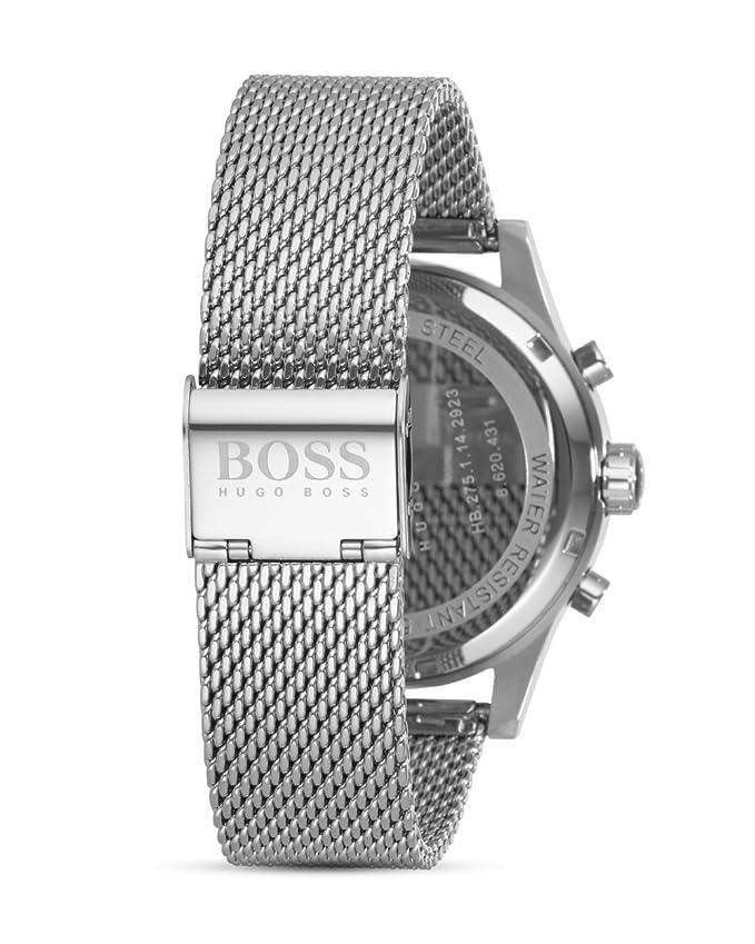 e70ece3d09f5 HUGO BOSS Men s Chronograph Quartz Watch with Stainless Steel Bracelet -  1513441  Amazon.co.uk  Watches