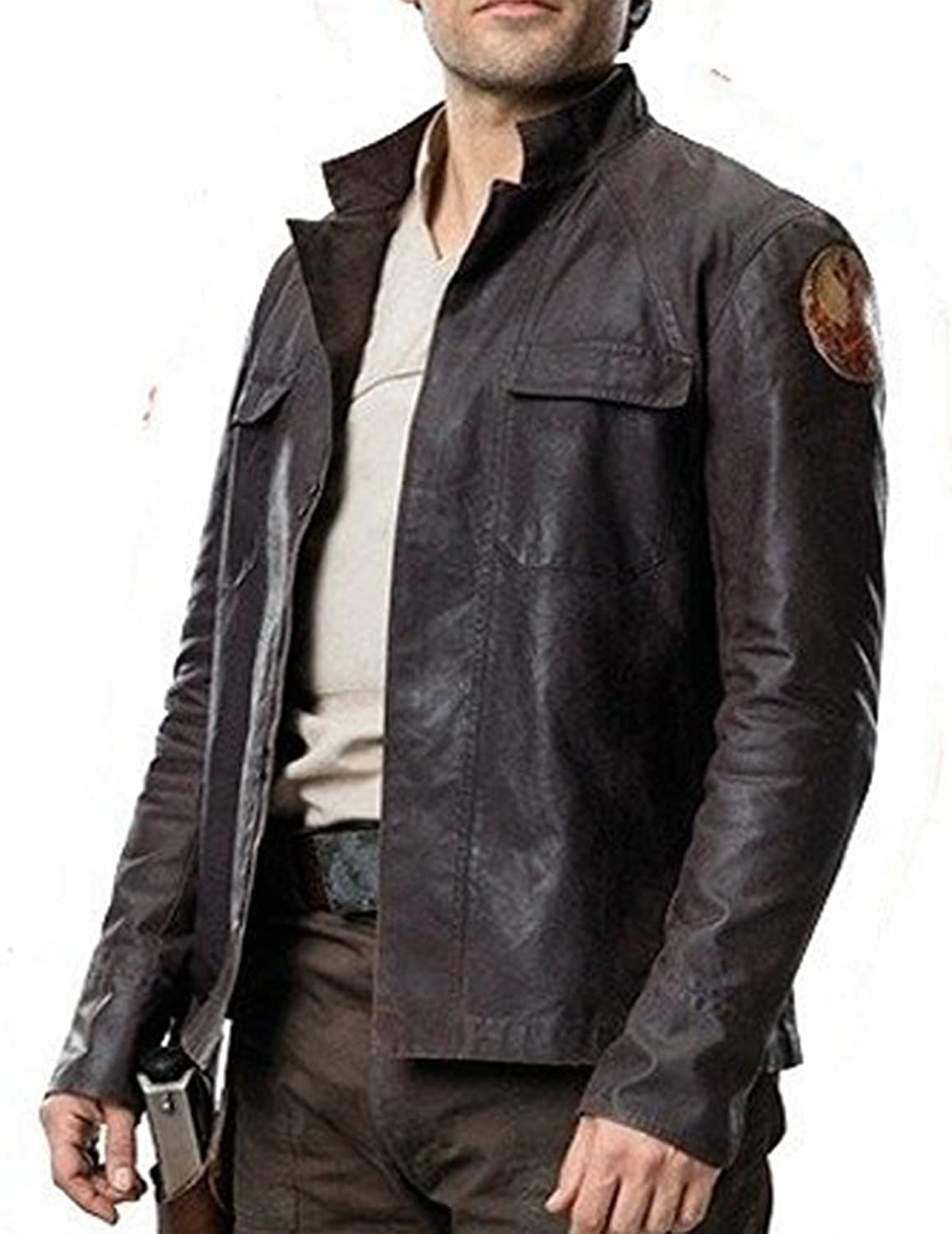 459acb22b Spazeup Mens Stylish Motorcycle Brown Casual Real Leather Jacket