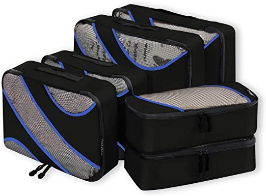 Bagail 6 Set Compression Packing Cubes